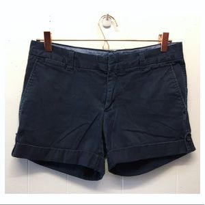 Banana Republic | Navy Rolled Stretch Shorts EUC
